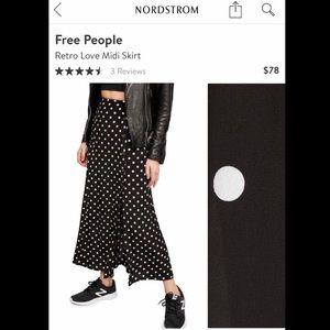 NWOT Free People Midi Skirt